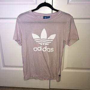 Adidas Light Pink Short Sleeve Shirt